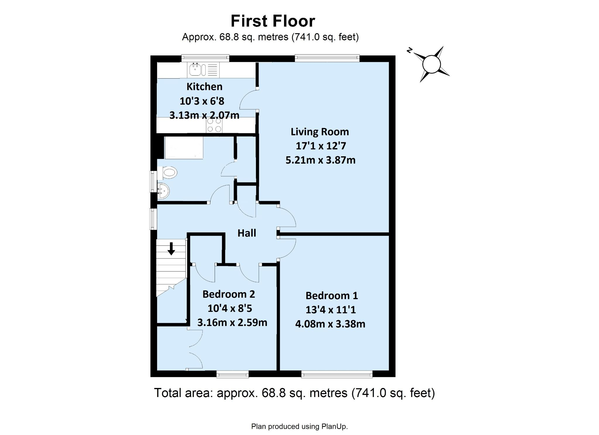 2 bedroom maisonette flat/apartment Sold in Sevenoaks - Floorplan 1