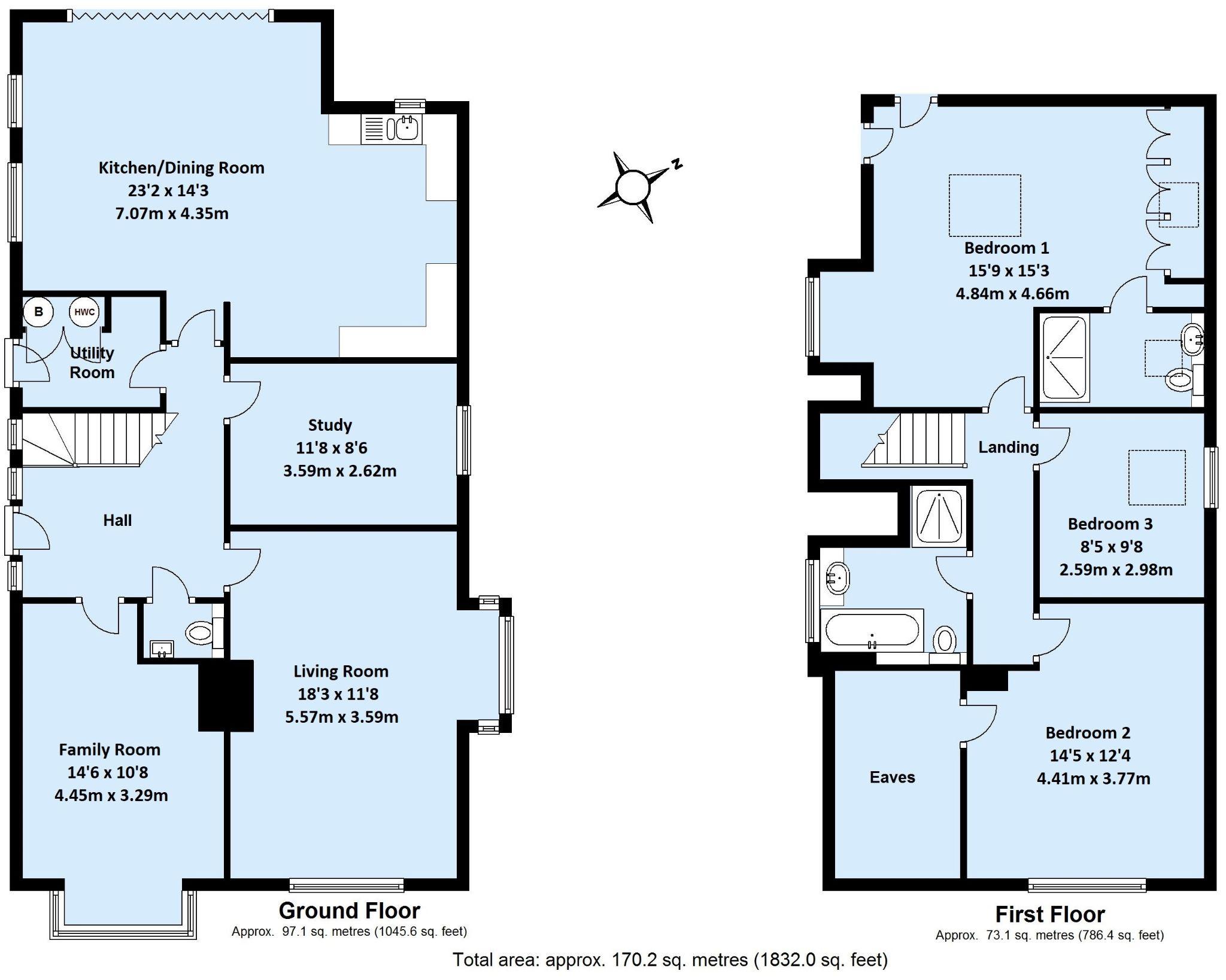 3 bedroom detached house Sale Agreed in Sevenoaks - Floorplan 1