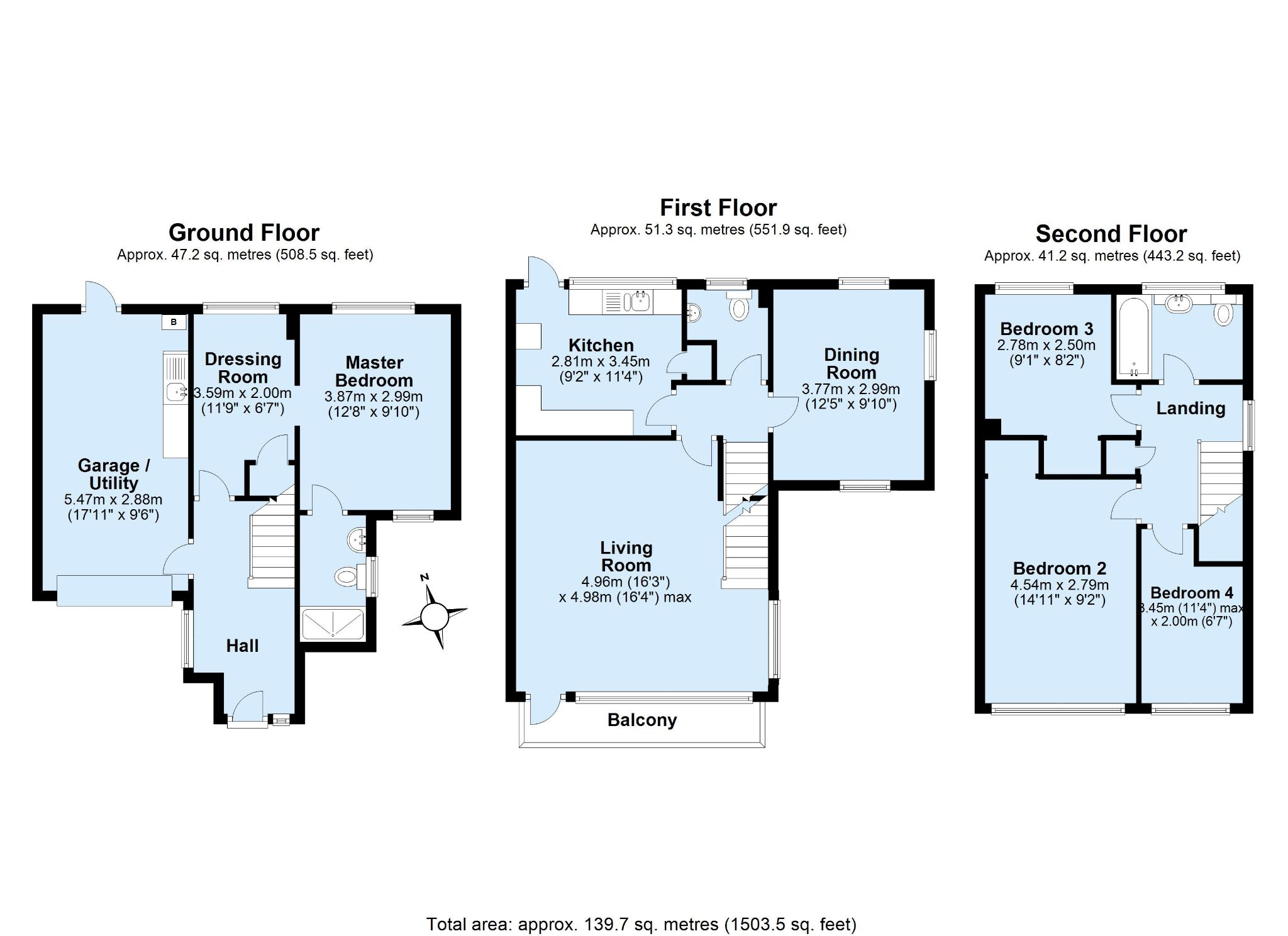 4 bedroom end terraced house Sale Agreed in Sevenoaks - Floorplan 1