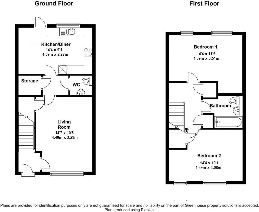 2 bedroom end terraced house Sold in Sevenoaks - Floorplan 1