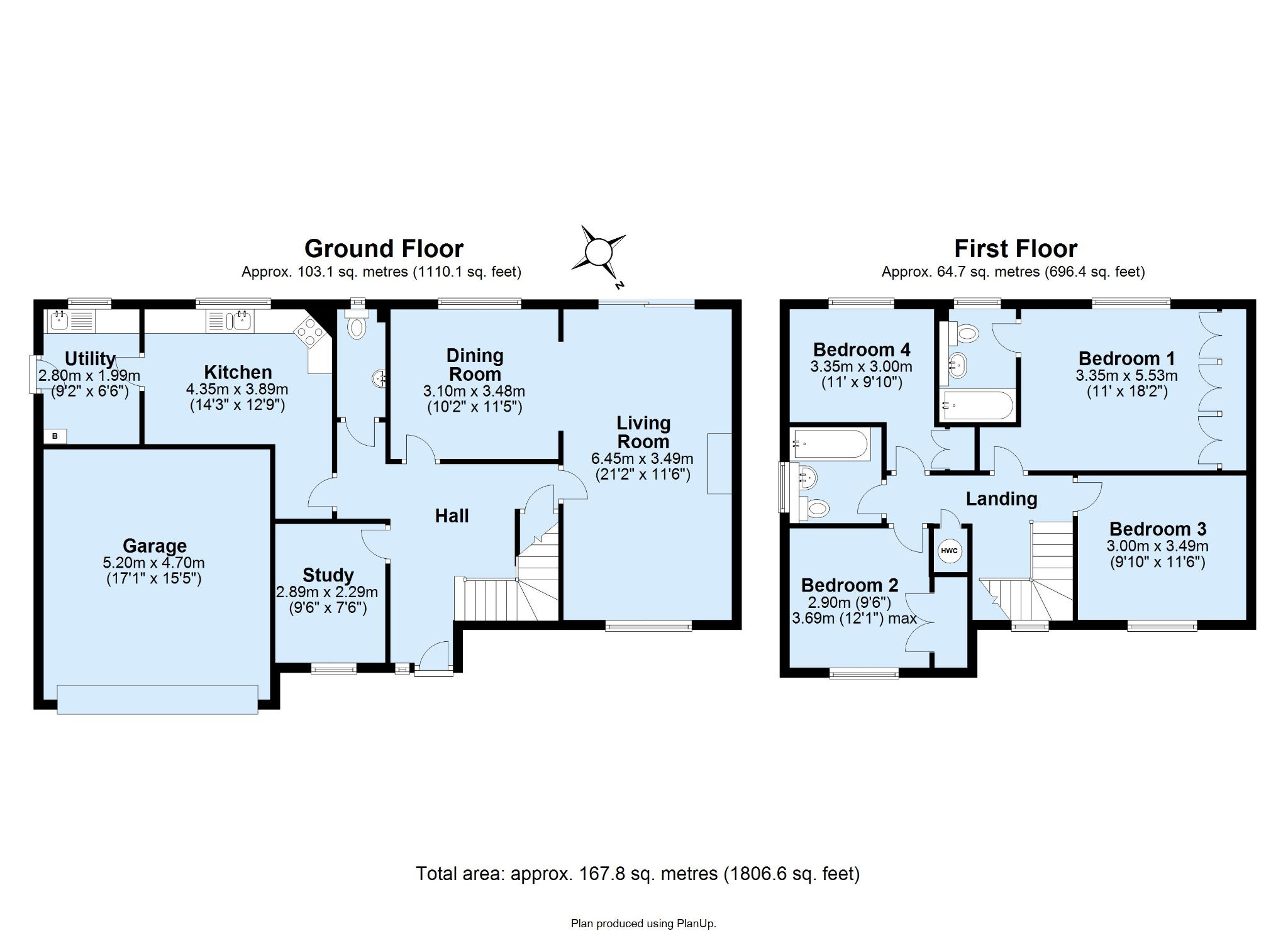4 bedroom detached house Sale Agreed in Sevenoaks - Floorplan 1