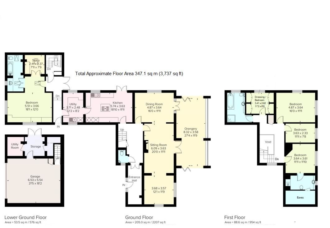 4 bedroom detached house For Sale in Farningham - Floorplan 1