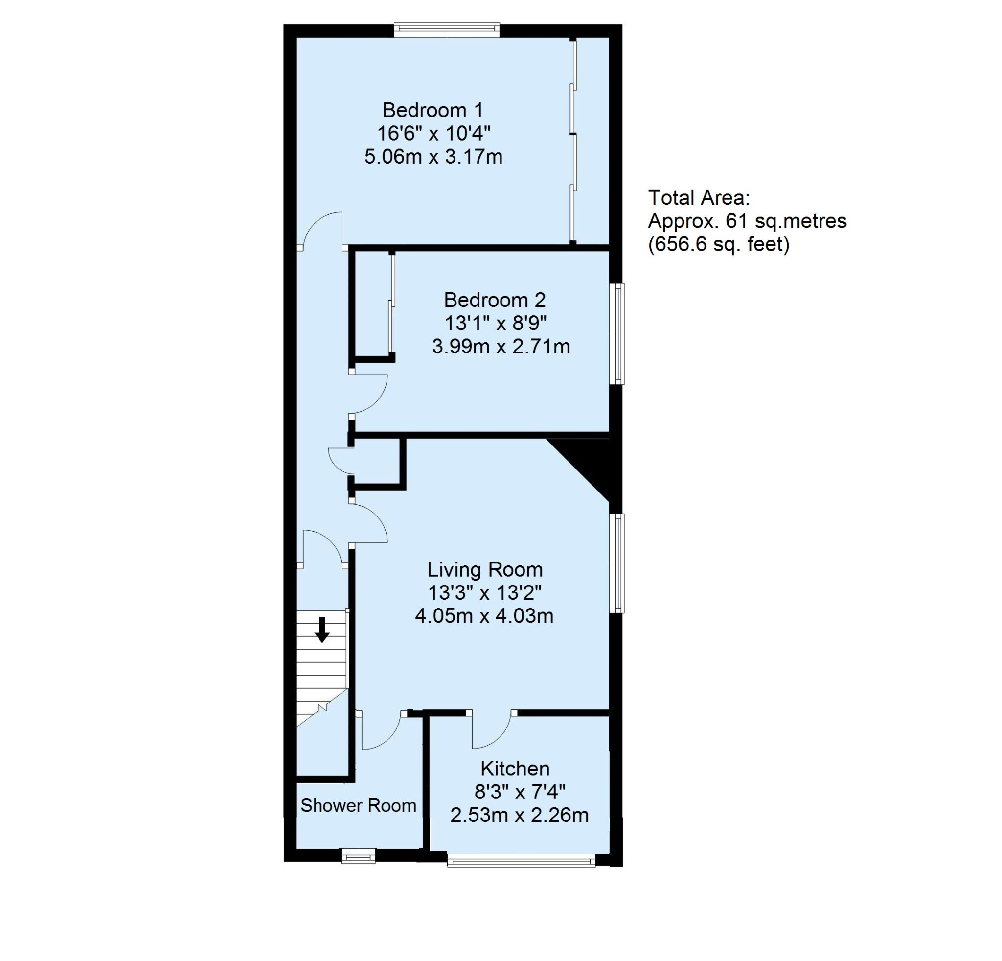2 bedroom apartment flat/apartment Sale Agreed in Sevenoaks - Floorplan 1