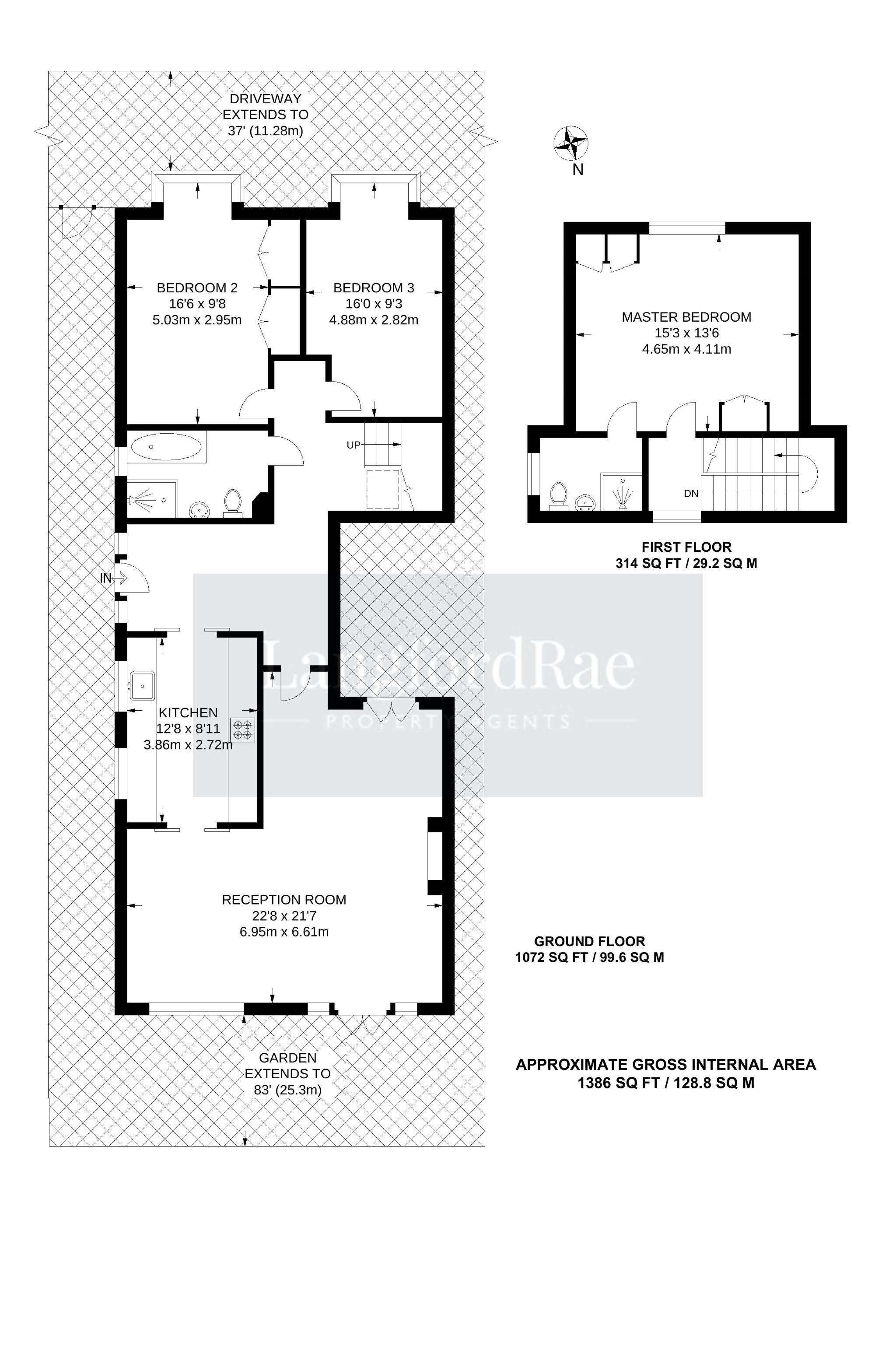 3 bedroom detached bungalow For Sale in Sevenoaks - Floorplan 1