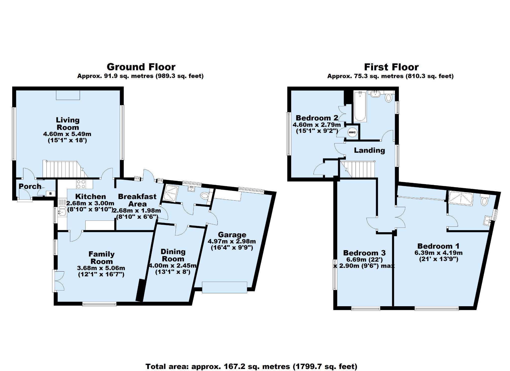 4 bedroom detached house Sold in Sevenoaks - Floorplan 1