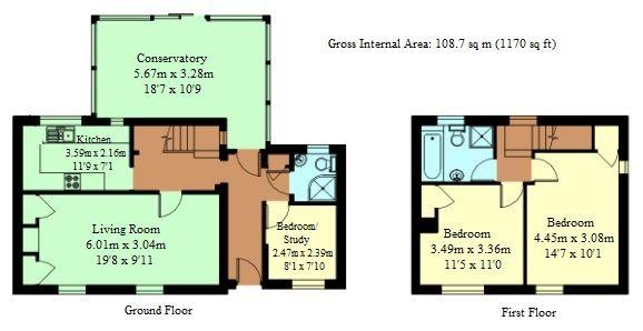 3 bedroom semi-detached house Sold in Tonbridge - Floorplan 1