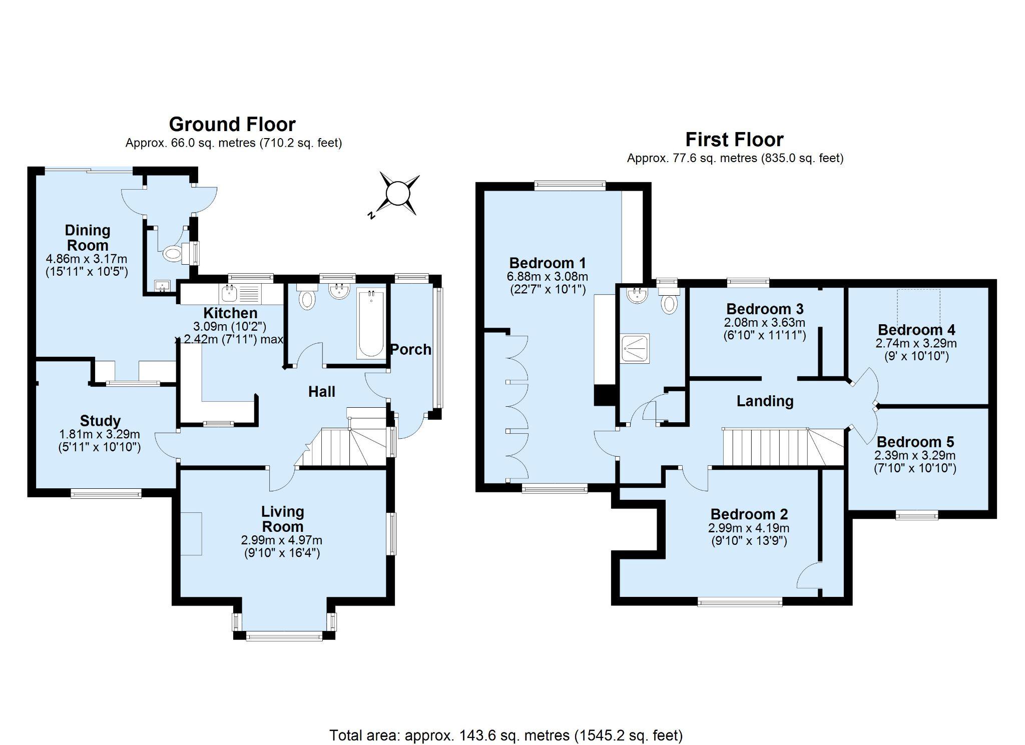 5 bedroom detached house Sale Agreed in Sevenoaks - Floorplan 1