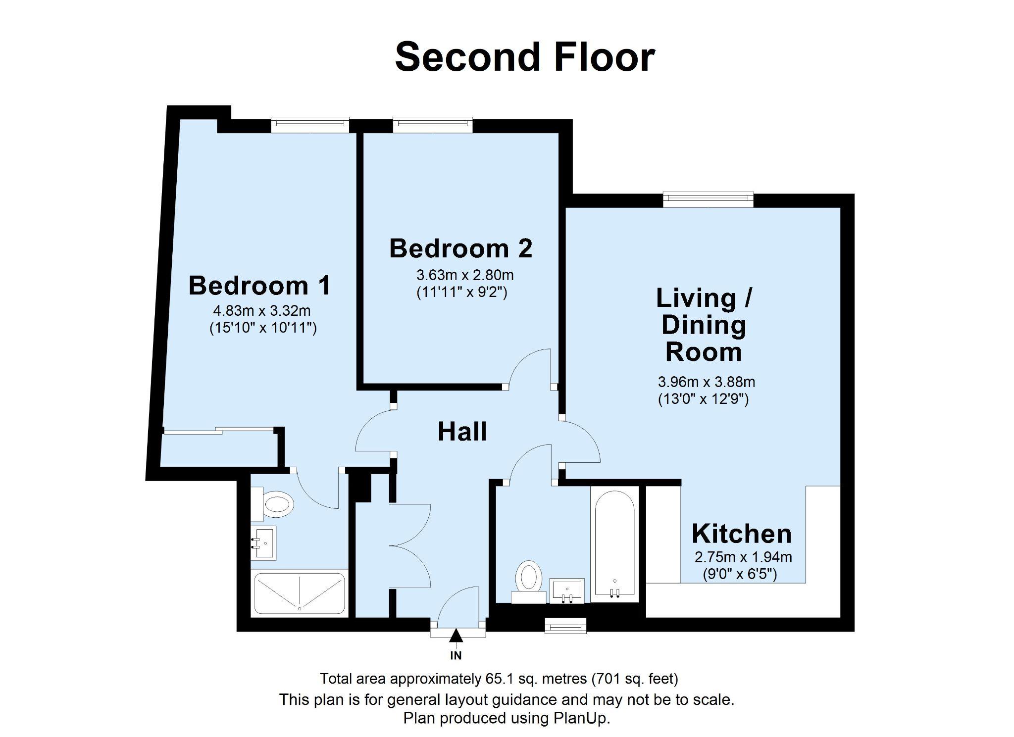 2 bedroom apartment For Sale in Dunton Green - Floorplan 1