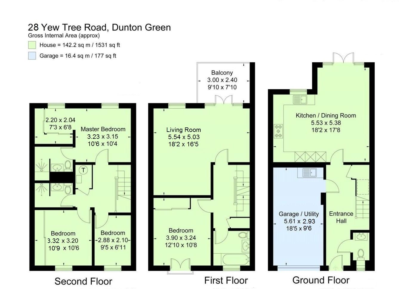 4 bedroom mid terraced house For Sale in Sevenoaks - Floorplan 1