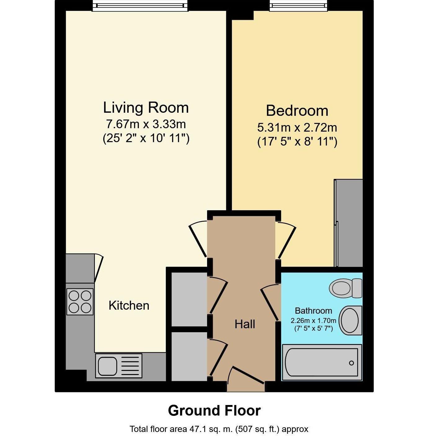 1 bedroom apartment For Sale in Sevenoaks - Floorplan 1
