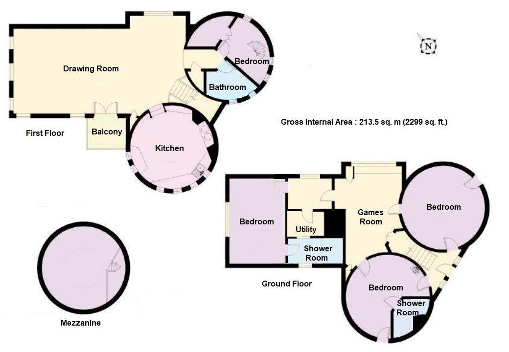 4 bedroom detached house Let Agreed in Edenbridge - Floorplan 1