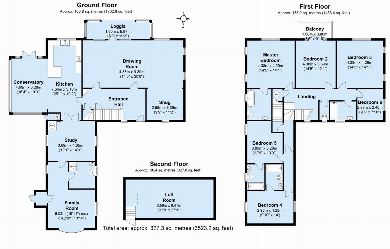 6 bedroom detached house Sold in Sevenoaks - Floorplan 1