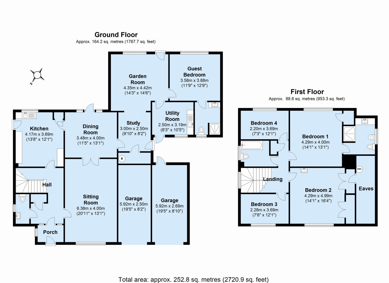 5 bedroom detached house To Let in Sevenoaks - Floorplan 1