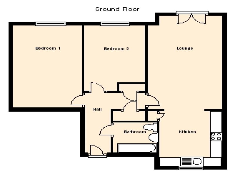 2 Bedroom Ground Floor Flat/apartment For Sale - Floorplan 7