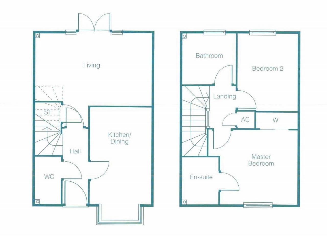 2 Bed End Terraced House To Rent - Floor Plan