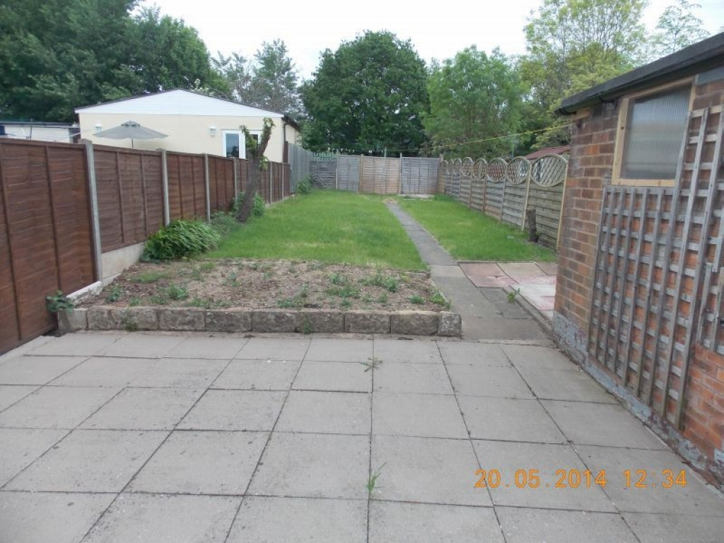 2 Bedroom Mid Terraced House For Sale - Rear Garden and Patio Area