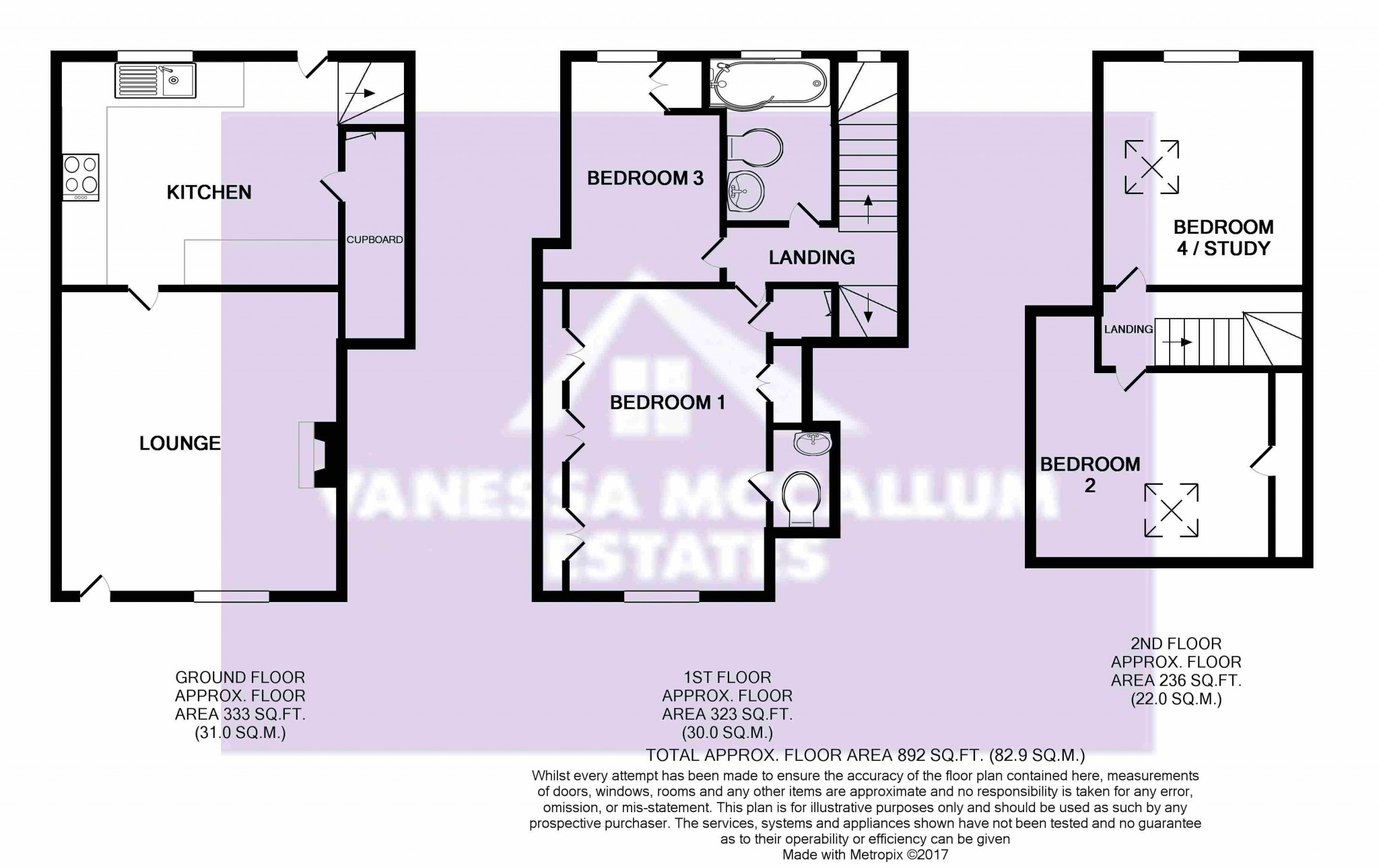 4 bedroom mid terraced house For Sale in Essendon - Floorplan 1