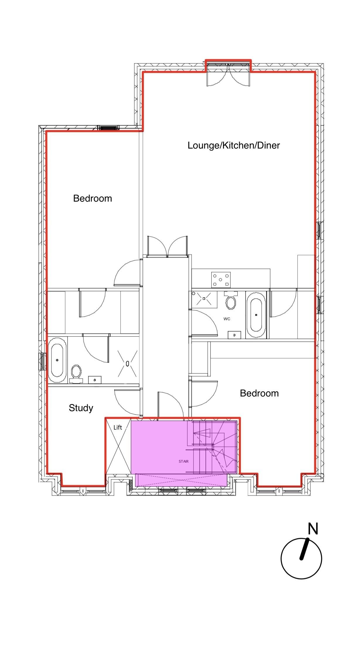 2 bedroom apartment flat/apartment For Sale in Hatfield - Floorplan 1