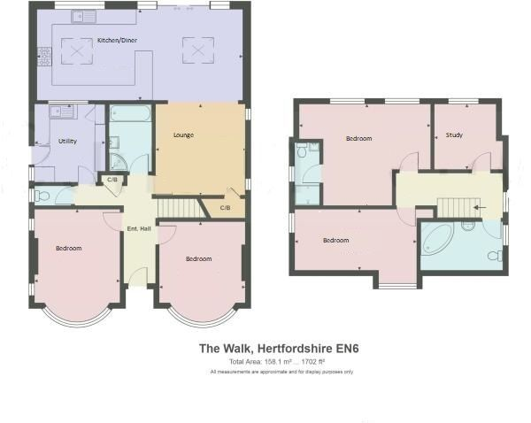 4 bedroom chalet house SSTC in Potters Bar - Floorplan 1