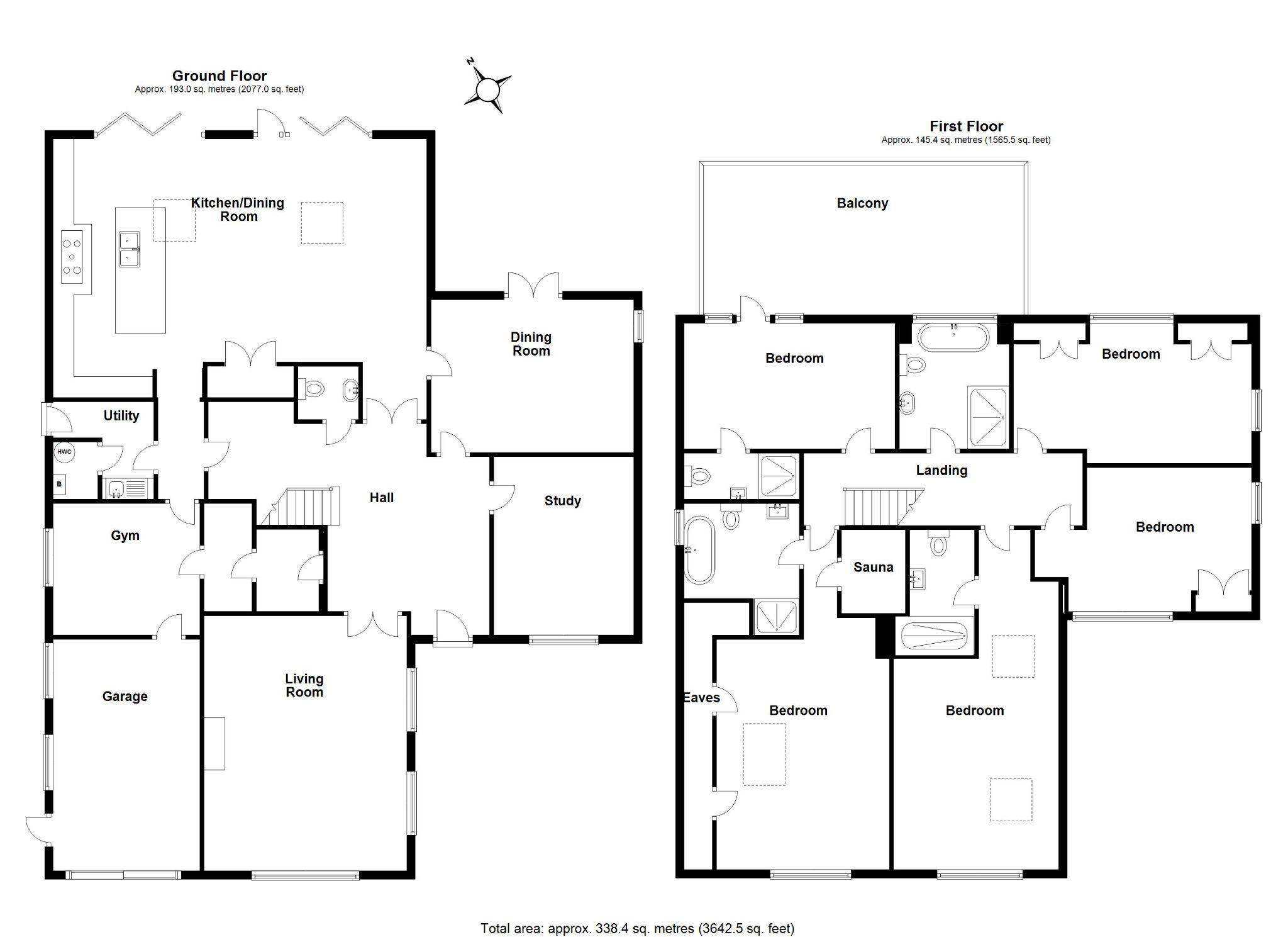 5 bedroom detached house Sale Agreed in Brookmans Park - Floorplan 1