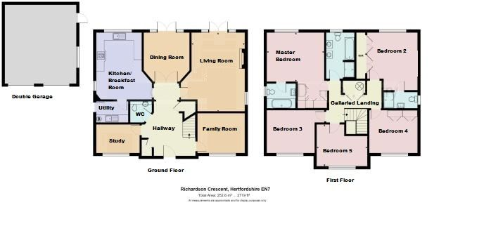 5 bedroom detached house For Sale in West Cheshunt - Floorplan 1