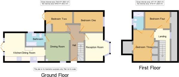 4 bedroom semi-detached bungalow For Sale in Potters Bar - Floorplan 1