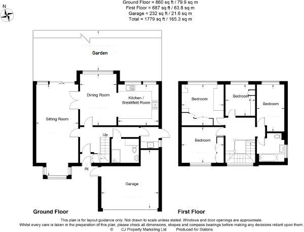 4 bedroom detached house Sale Agreed in Potters Bar - Floorplan 1