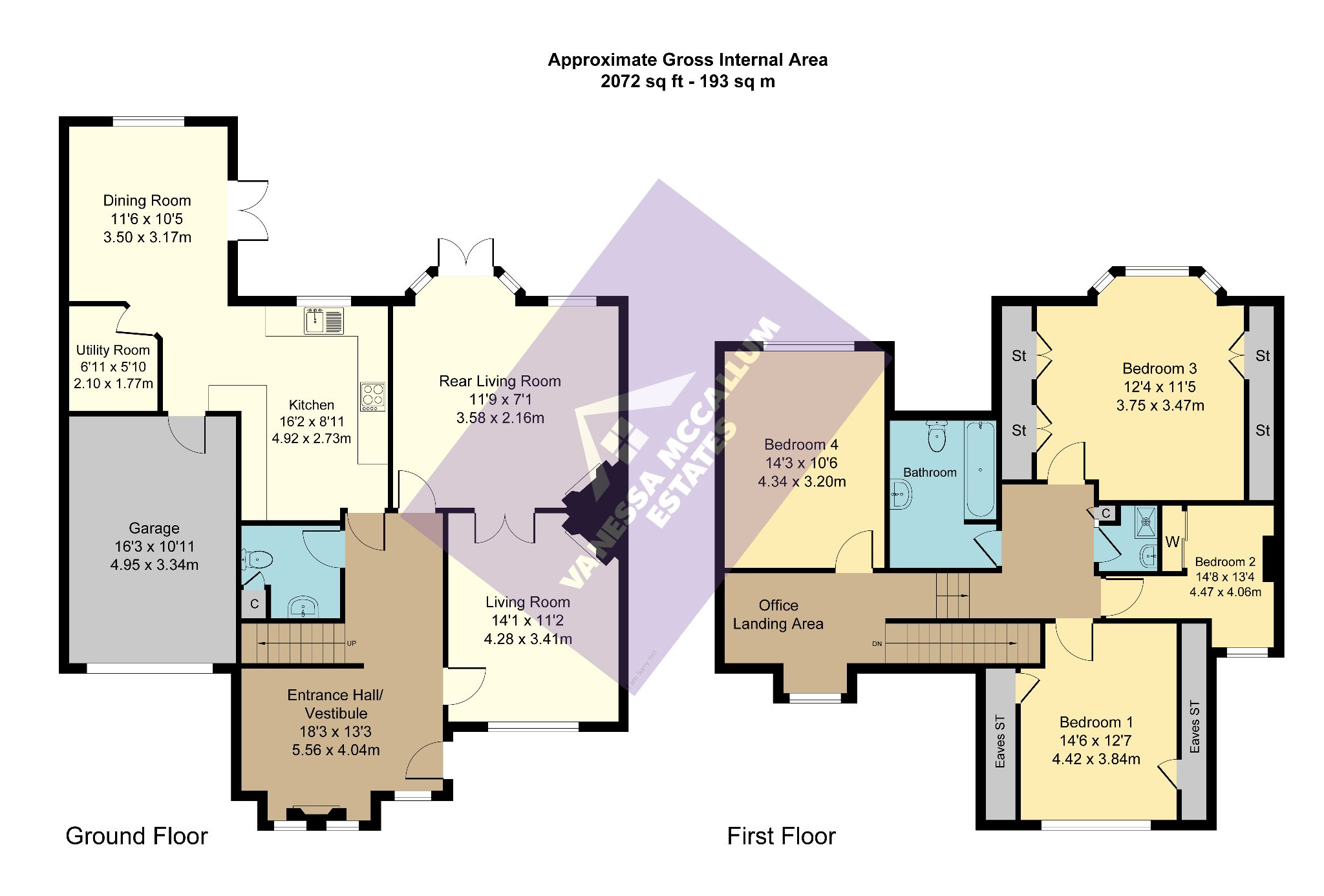 4 bedroom semi-detached house For Sale in Southgate - Floorplan 1
