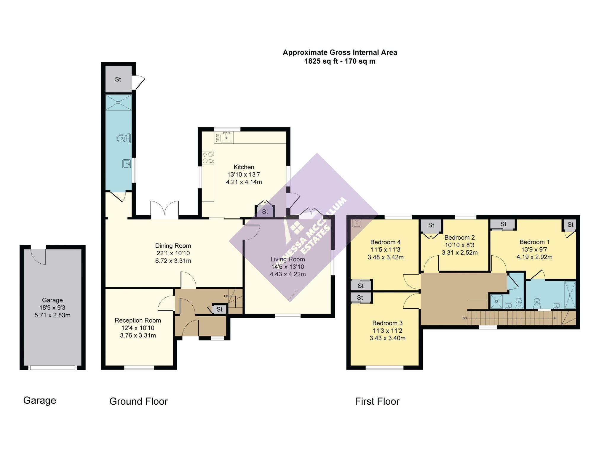 4 bedroom semi-detached house Sale Agreed in Hatfield - Floorplan 1
