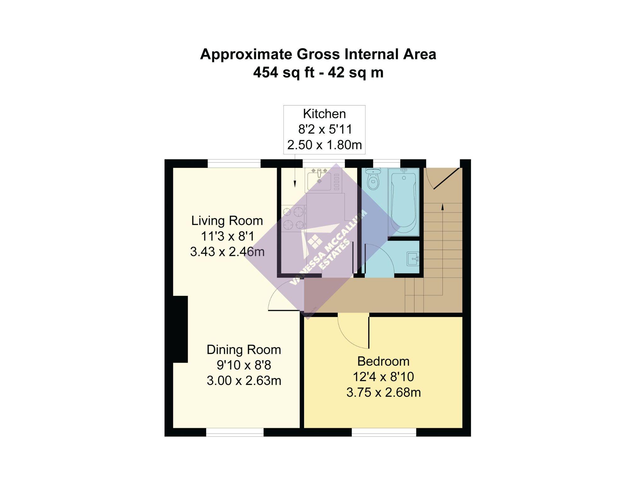 1 bedroom maisonette flat/apartment To Let in Potters Bar - Floorplan 1