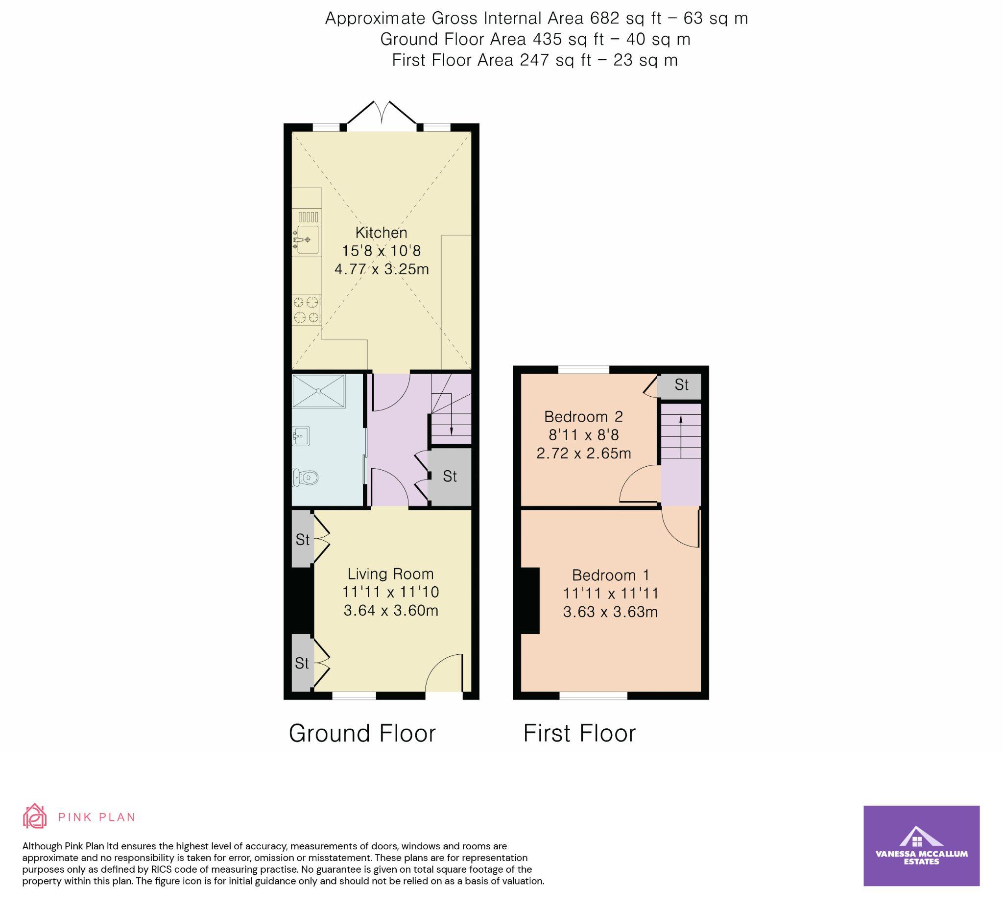2 bedroom cottage house Sale Agreed in Hertfordshire - Floorplan 1