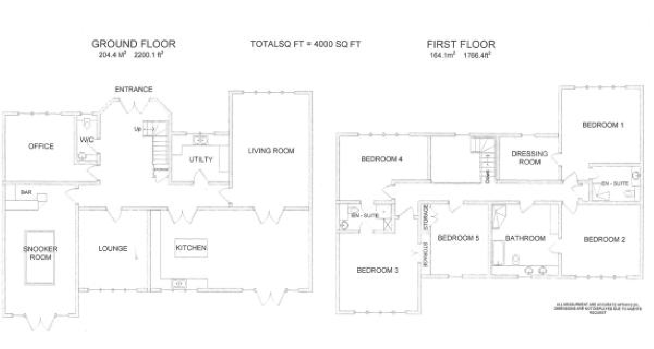 5 bedroom detached house SSTC in North Mymms - Floorplan 1