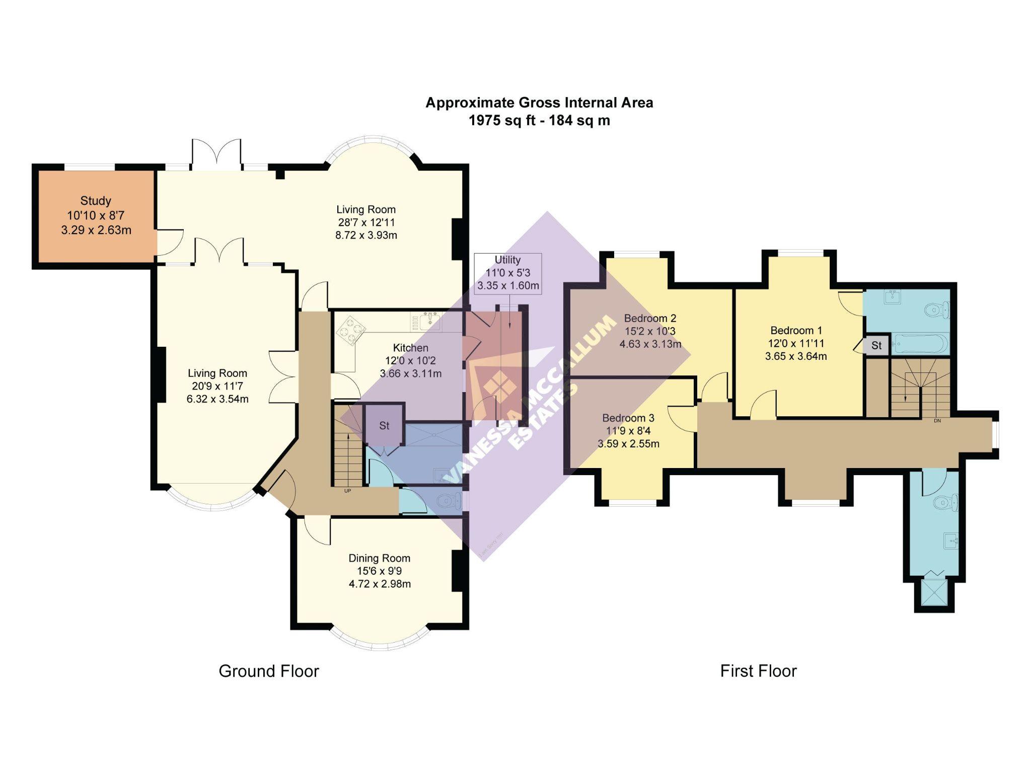 4 bedroom detached house For Sale in Brookmans Park - Floorplan 1