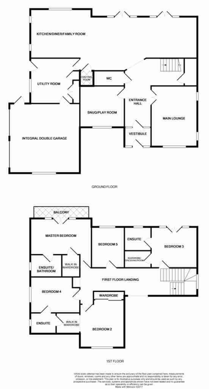 5 bedroom detached house SSTC in Abergele - Floorplan 1