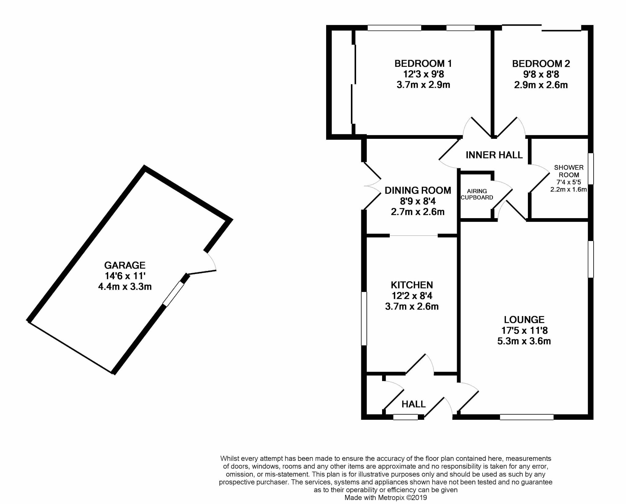 2 bedroom detached bungalow SSTC in Pensarn,  Abergele - Floorplan 1