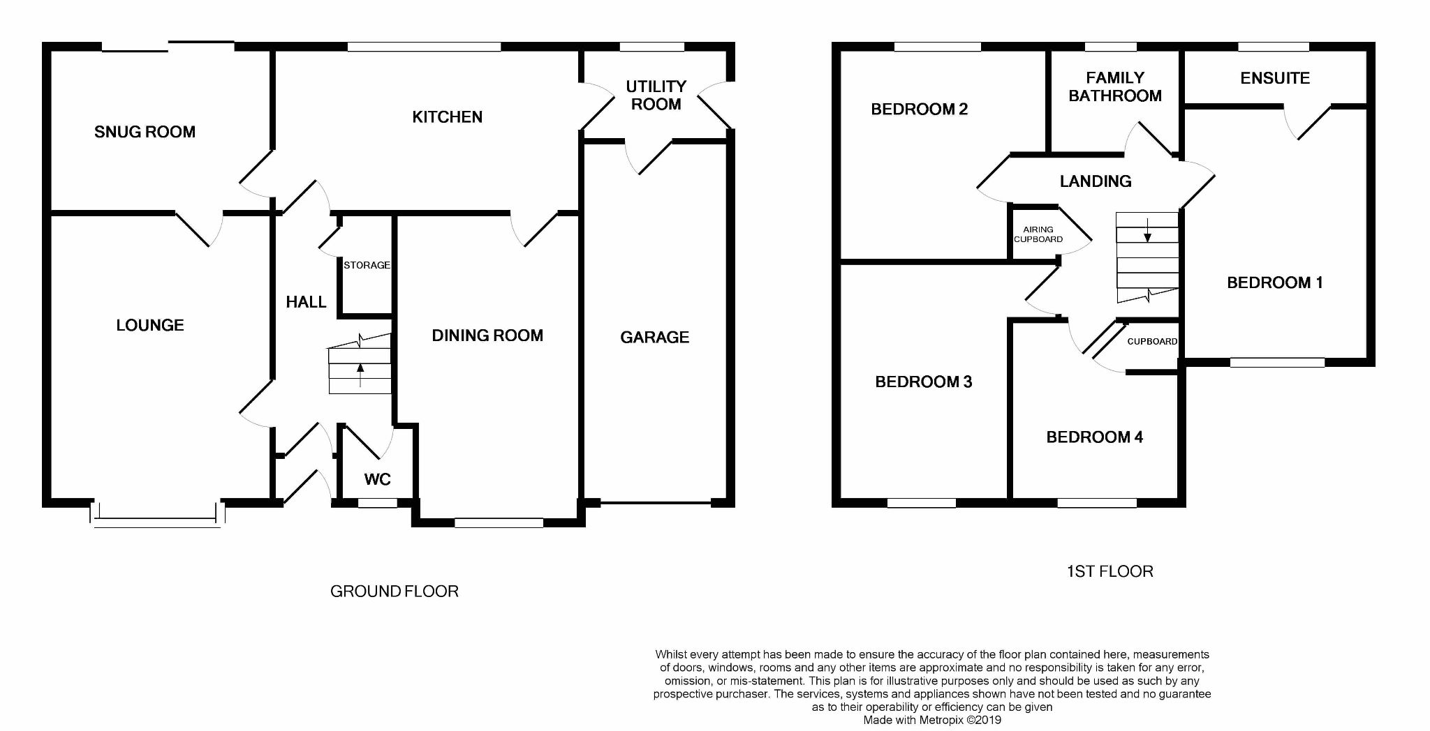 4 bedroom detached house For Sale in Abergele - Floorplan 2