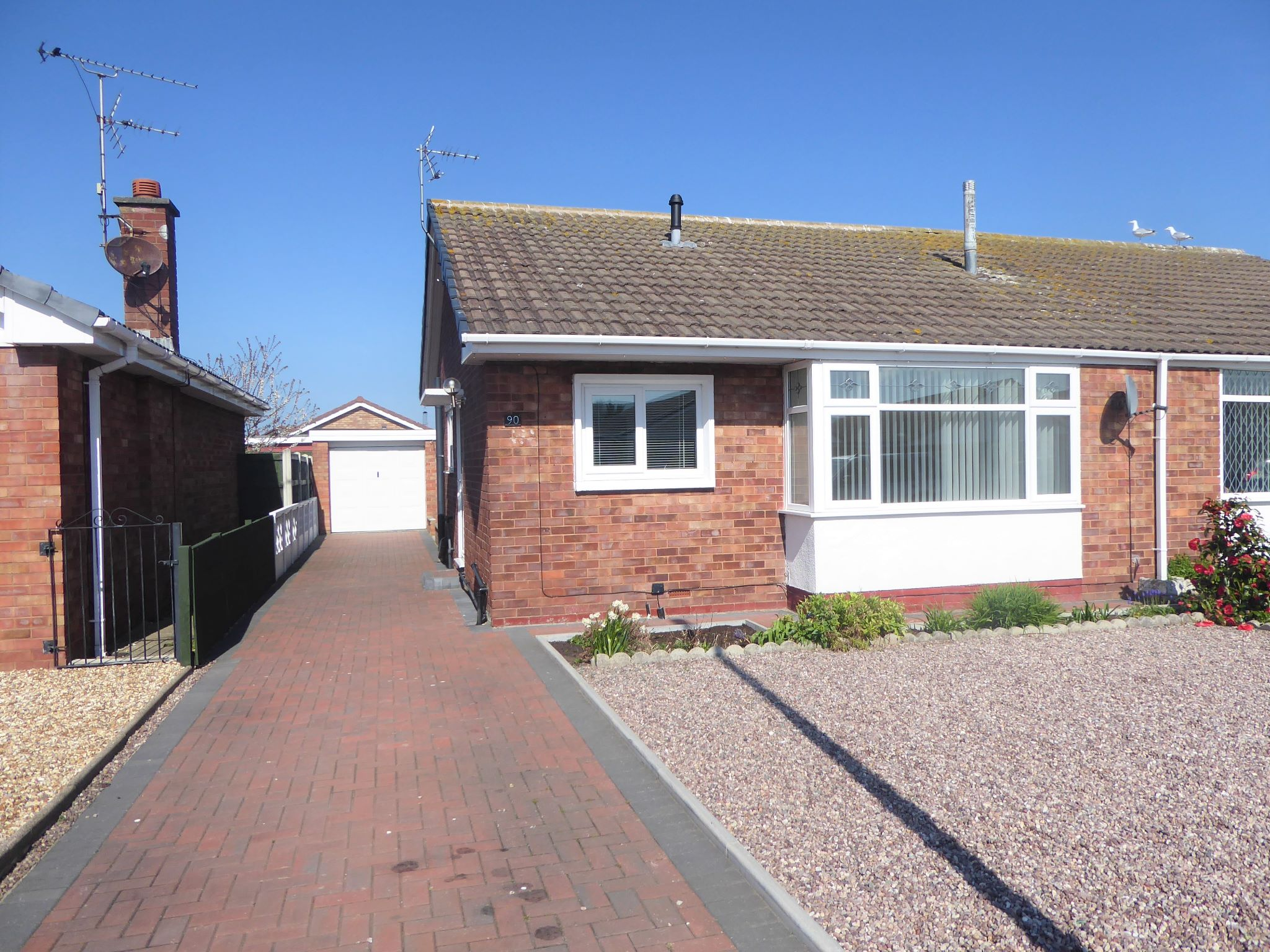 2 bedroom semi-detached bungalow For Sale in Pensarn - Property photograph