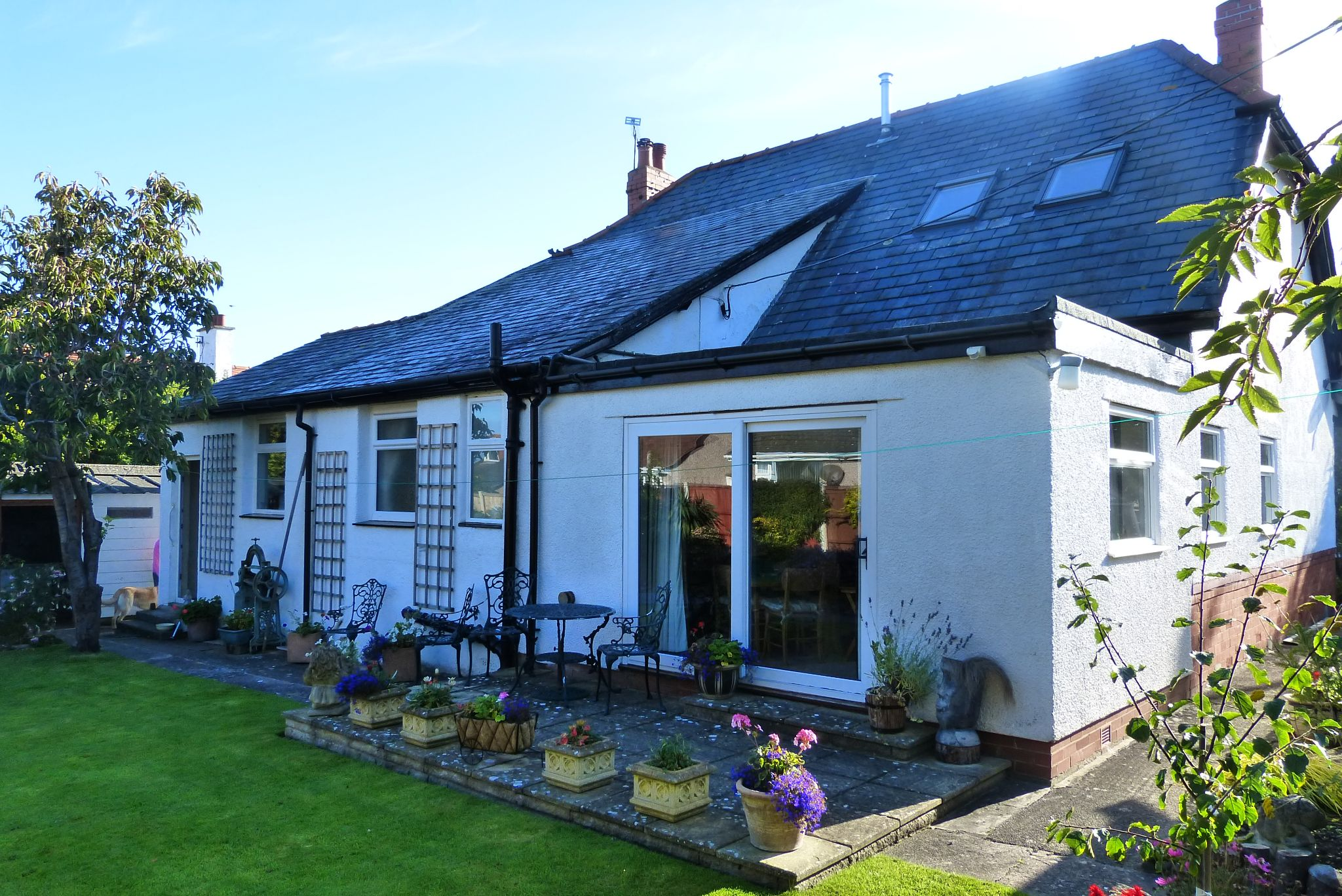 4 bedroom detached bungalow For Sale in Abergele - Rear Aspect
