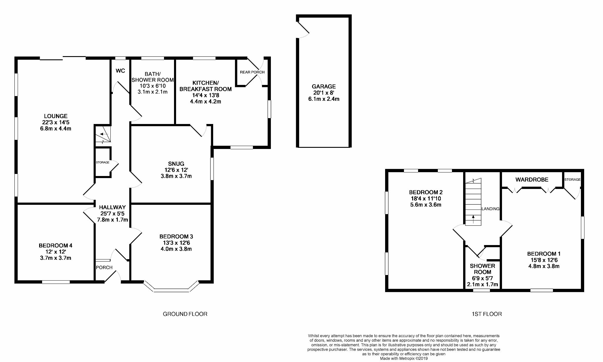 4 bedroom detached house For Sale in Abergele - Floorplan 1