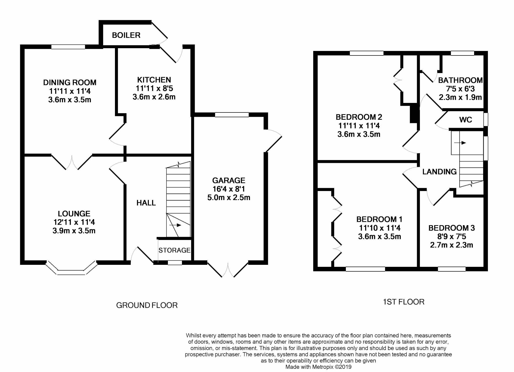 3 bedroom semi-detached house For Sale in Abergele - Floor Plan