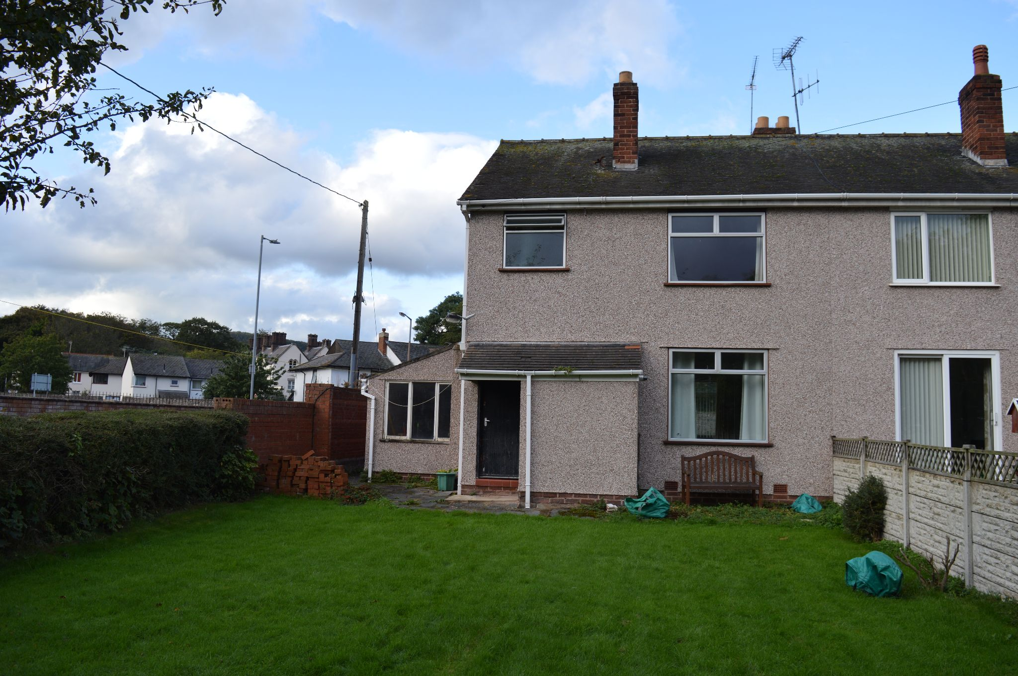 3 bedroom semi-detached house For Sale in Abergele - Rear Aspect