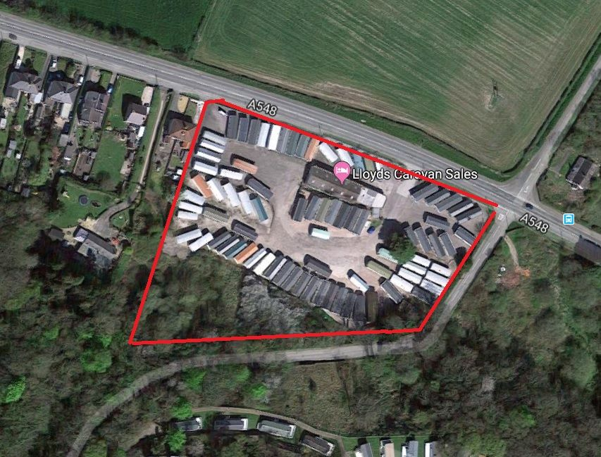 Land For Sale in Holywell - Google earth Image