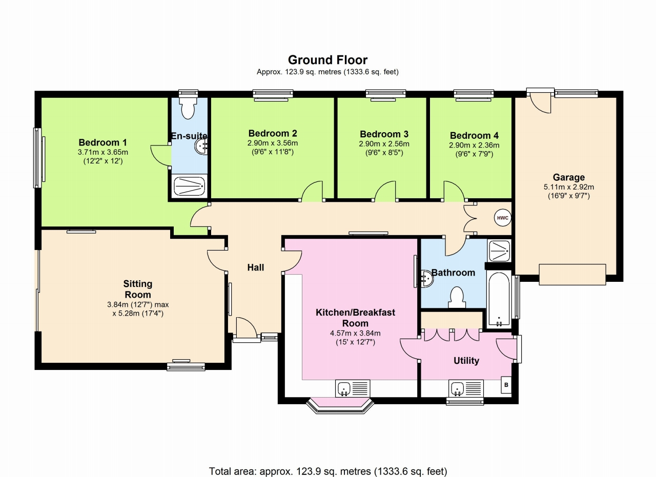 4 Bedroom Detached Bungalow For Sale - Floorplan 1