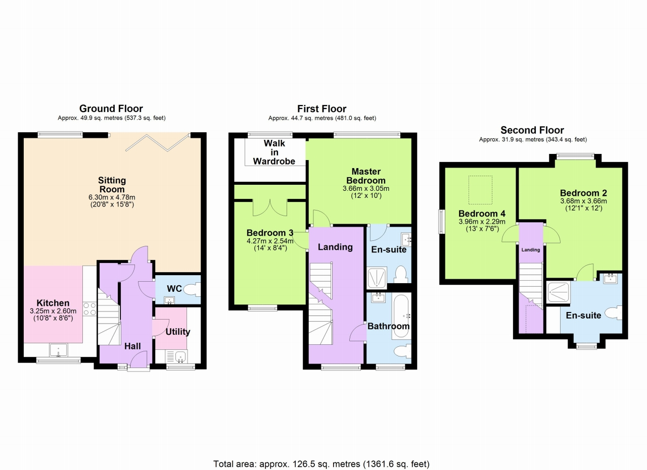 4 Bedroom Semi-detached House For Sale - Floorplan 1