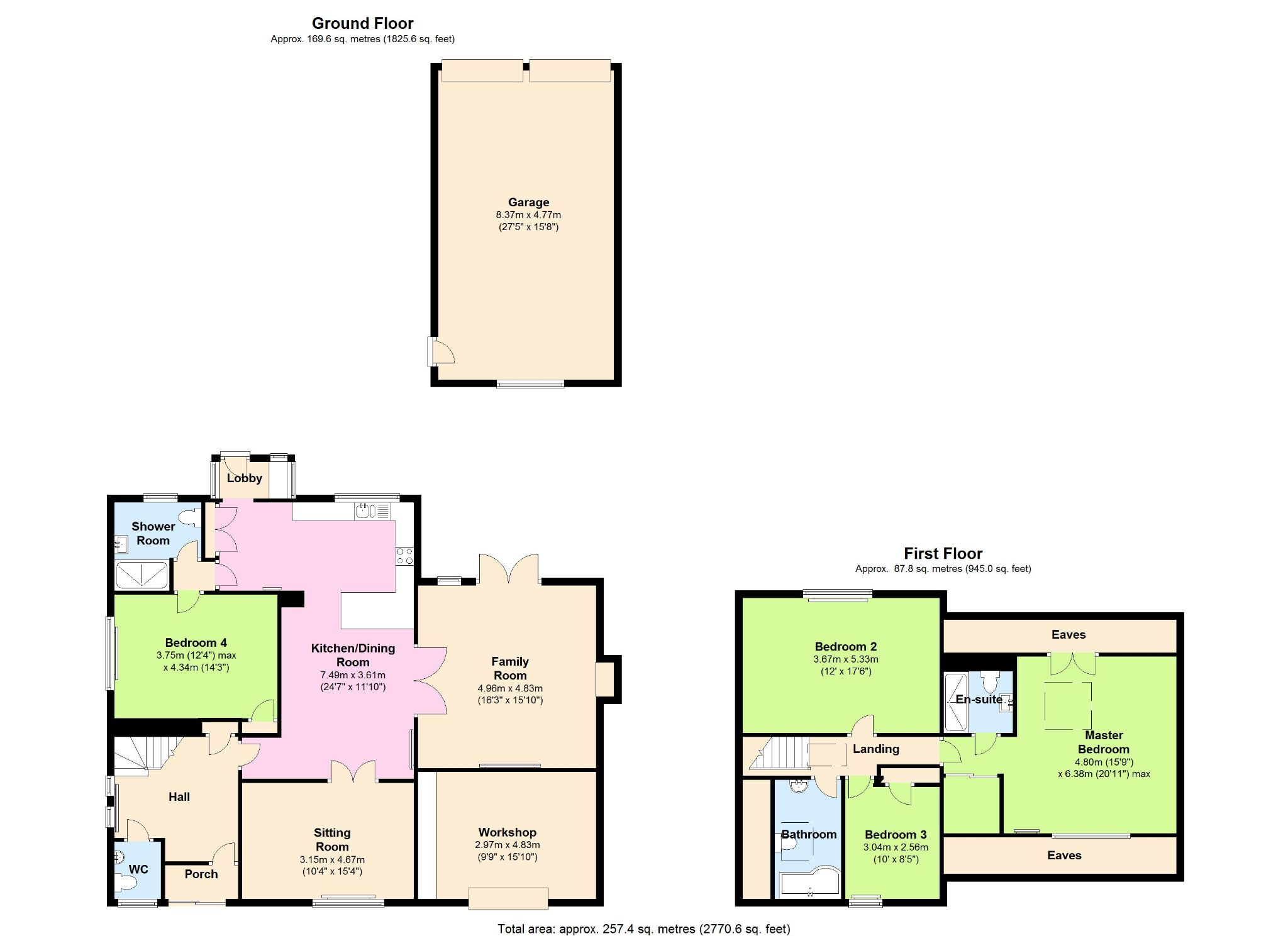 4 Bedroom Detached House For Sale - Floorplan 1