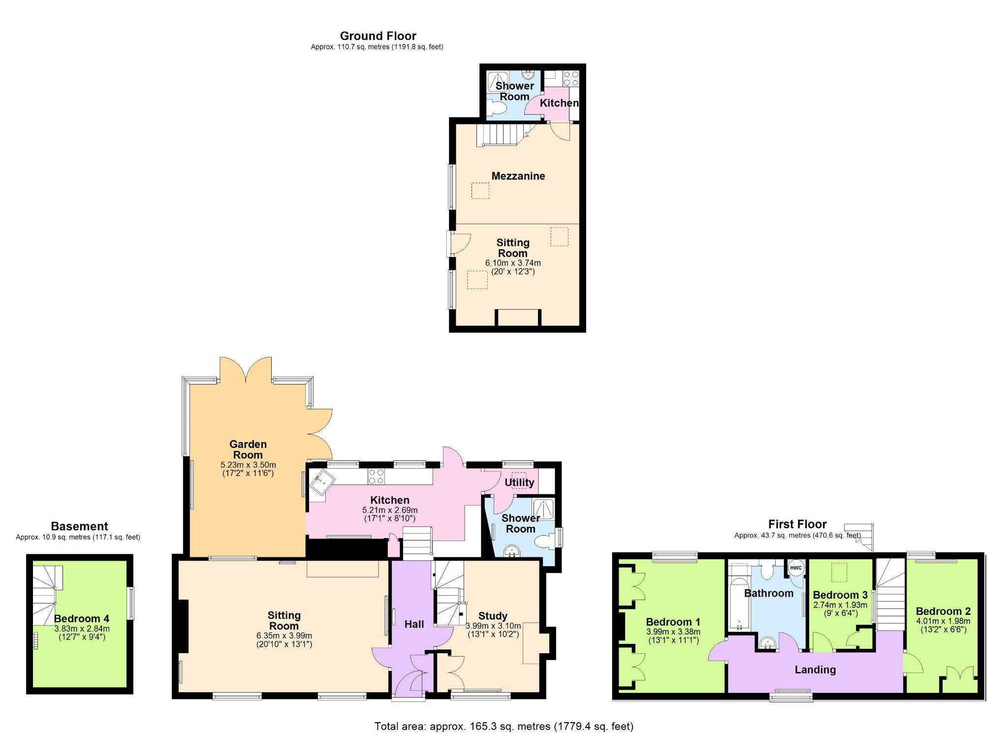 4 Bedroom Cottage House For Sale - Floorplan 1