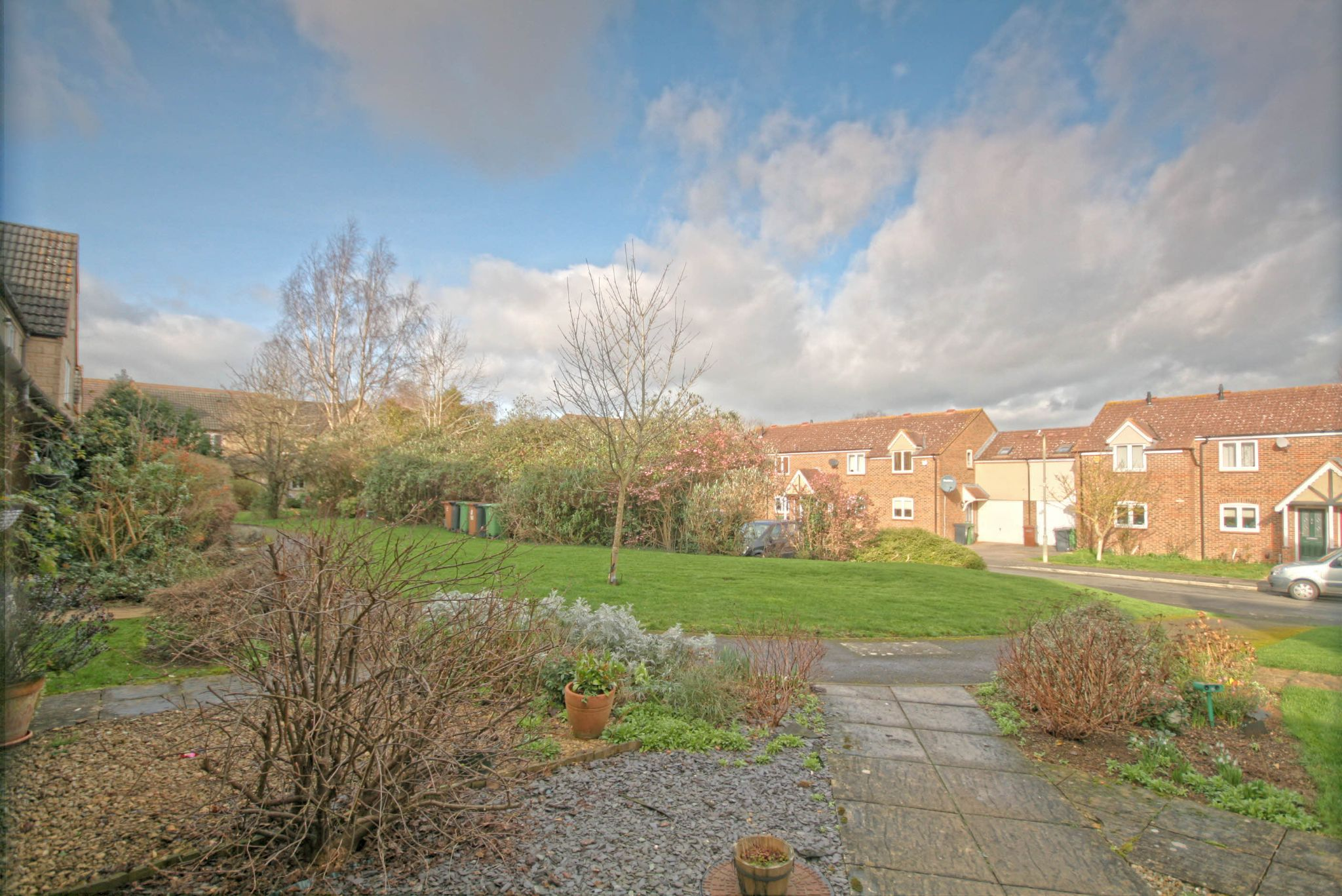 3 Bedroom End Terraced House For Sale - View across green from front door