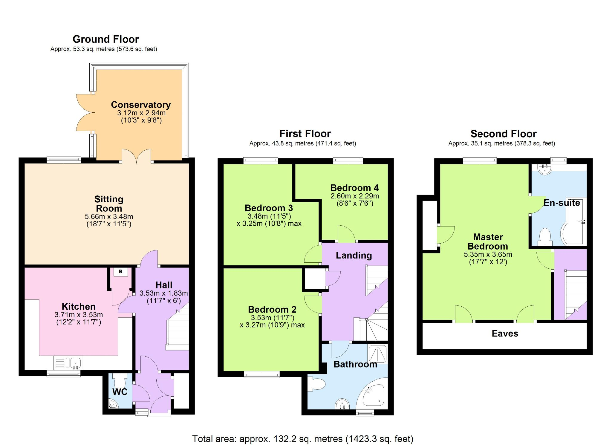 4 Bedroom End Terraced House For Sale - Floorplan 1