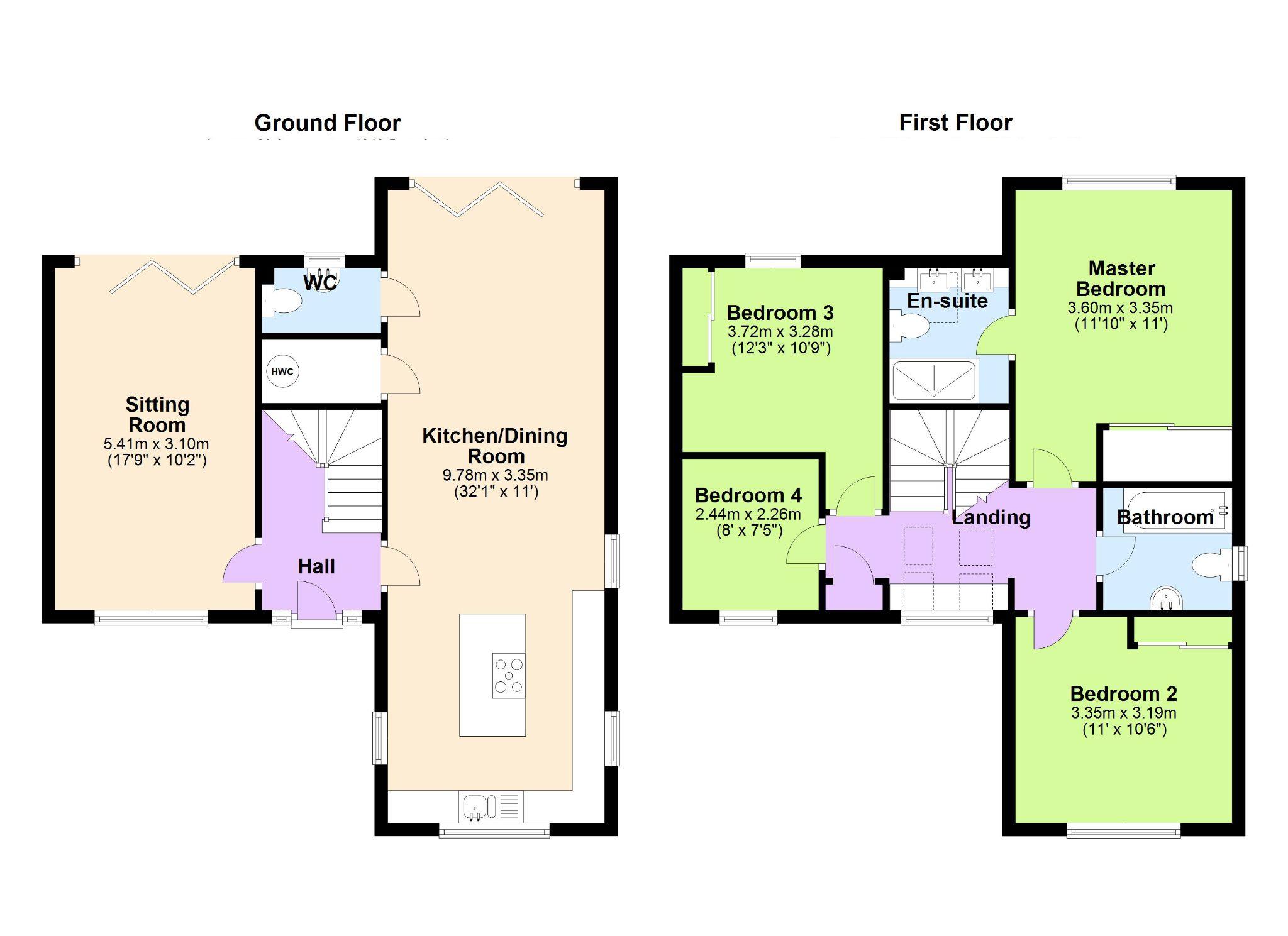 4 Bedroom Detached House For Sale - Floorplan 1