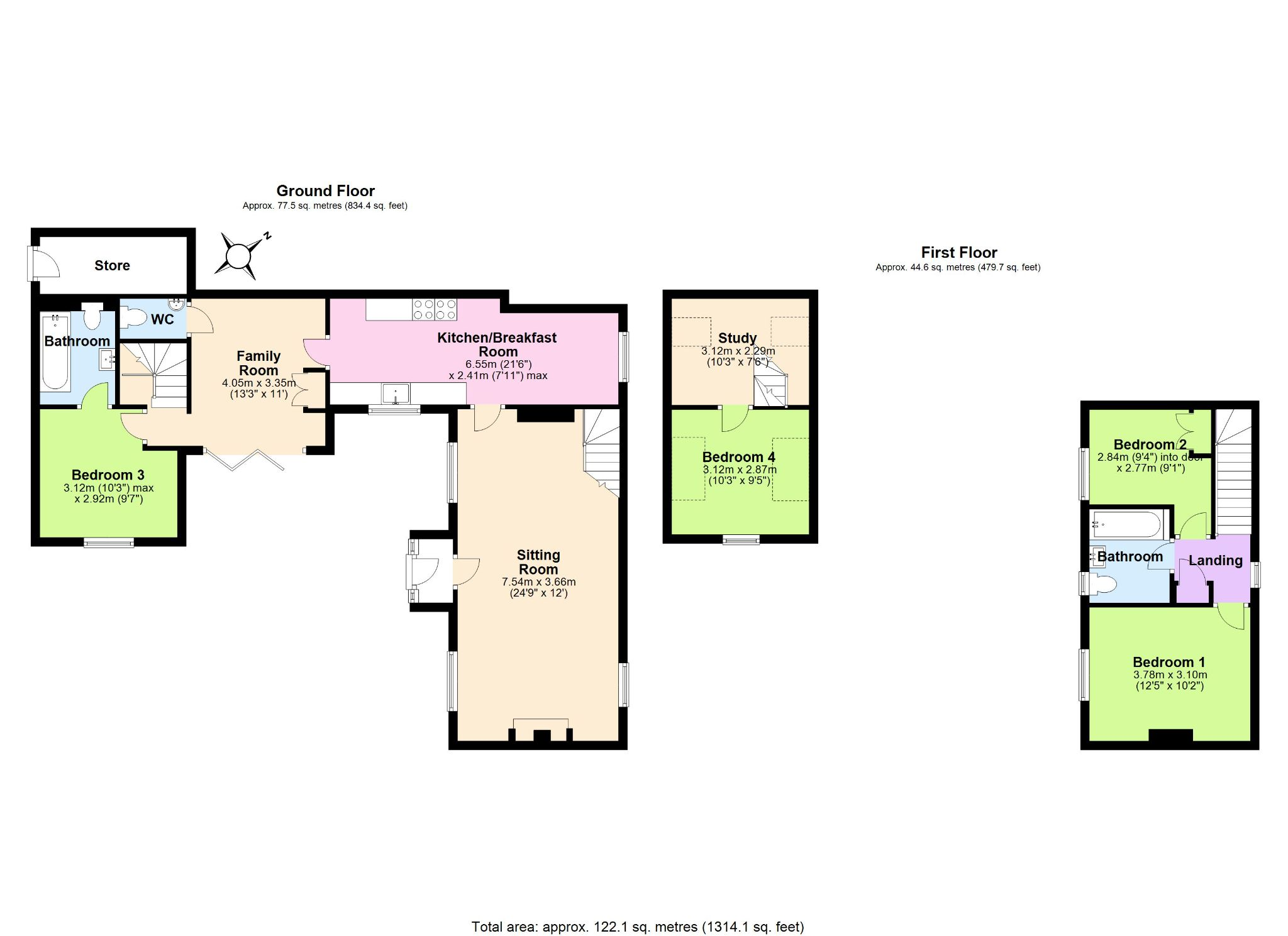 4 Bedroom Cottage House For Sale - Floorplan 1